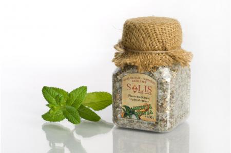 Sare de baie cu plante medicinale MENTĂ 450g